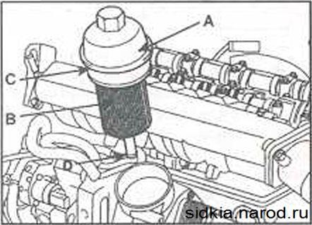 как поменять масляный фильтр на киа сид